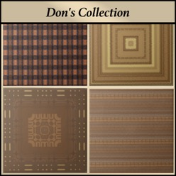 Brown and harvest gold ceramic tile from Don's Collection at Gingezel.