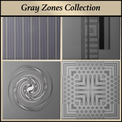 Gray designer ceramic tile from the Gingezel Gray Zones Colection