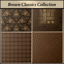 Brown designer ceramic tile from the Gingezel Brown Classics Collection.